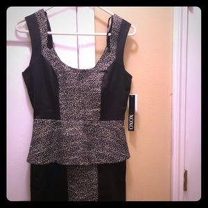 Black XOXO peplum mini dress
